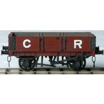 Witmetalen bouwpakket -  Open wagon met middendeur van de Caledonain Railway en LMS