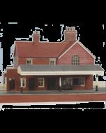 Bouwpakket HO: bakstenen landelijke station