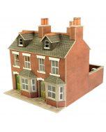 Bouwpakket HO/OO: rood bakstenen rijtjeshuis - Metcalfe - PO261