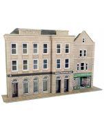 Bouwpakket HO/OO: Half relief Bankgebouw en winkel - Metcalfe - PO271