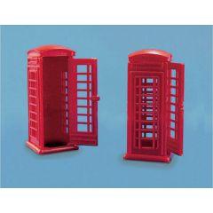 2 Engelse Telefooncellen - Peco - schaal OO