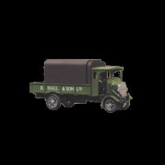 Bouwpakket HO : Thornycroft type PB 4 ton vrachtauto uit 1926. Hall and son kleuren.