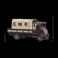 Bouwpakket HO : Thornycroft type PB 4 ton vrachtauto uit 1926. GWR kleuren.