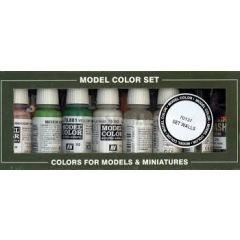Vallejo gebouw 8 kleuren set  - Model color - waterbasis acryl verf