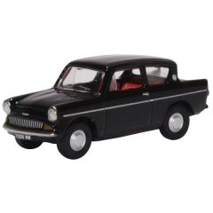 Ford Angia - zwart - Oxford Diecast - schaal OO
