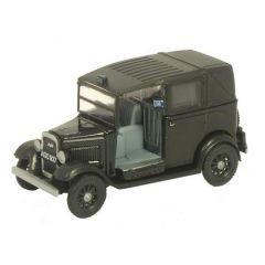 Austin Taxi - zwart - Oxford Diecast - schaal OO
