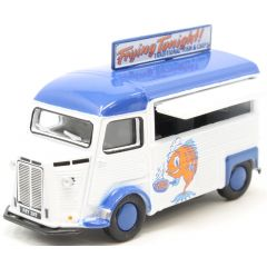 Citroen H - Fish and chips wagen - Oxford Diecast - schaal OO