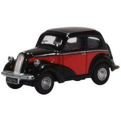 Ford popular - rood zwart - Oxford Diecast - schaal OO