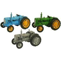 Fordson set van 3 tractoren - Oxford Diecast - schaal OO