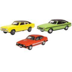 Set met 3 Ford Capri - mk1 mk2 mk3 - Oxford Diecast - schaal OO