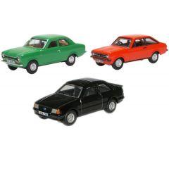 Set met 3 Ford Escort - mk1 mk2 xr31 - Oxford Diecast - schaal OO