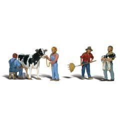 Melkvee houders - Woodland scenics A1887 HO figuren
