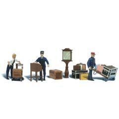 Magazijn medewerkers - Woodland scenics A1909 HO figuren
