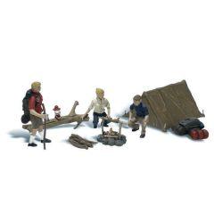 Kampeerders met tent - Woodland scenics A1917 HO figuren