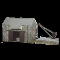 Bouwpakket HO: goederenloods met kraan