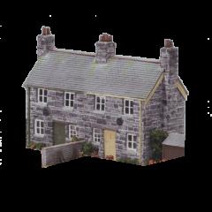 Bouwpakket HO: twee onder een kap natuurstenen woningen
