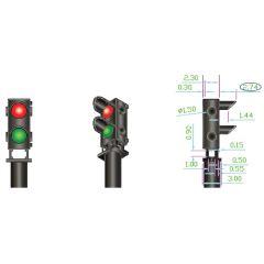 4 rood groen dwergseinen - DCC concepts