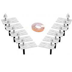 Werkende tafellampen met gedekte tafels voor Pullman rijtuigen - DCC concepts