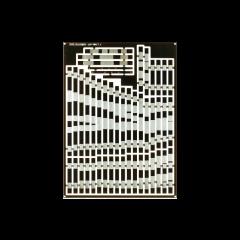dwarsliggers voor 3 weg asymmetrisch wissel - voor geetst - gesneden - copper clad - DCC concepts