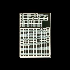 dwarsliggers voor kruisingen - voor geetst - gesneden - copper clad - DCC concepts