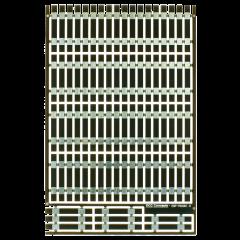 80 dwarsliggers - voor geetst - gesneden - copper clad - DCC concepts