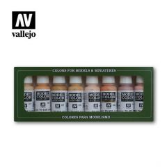 Vallejo huidtonen 8 kleuren set  - Model color - waterbasis acryl verf