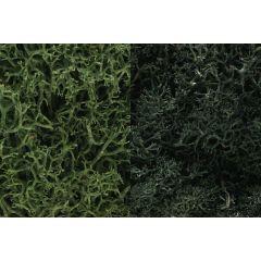Korstmos Woodland scenics donker groen mix L168