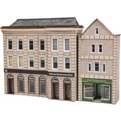 Bouwpakket N: Bank en winkel half relief - Metcalfe - PN971