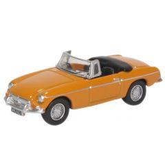MG B roadster - geel - Oxford Diecast - schaal OO