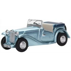 MG TC convertible - blauw - Oxford Diecast - schaal OO