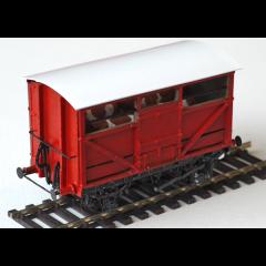Witmetalen bouwpakket -  Vee wagon van de NER