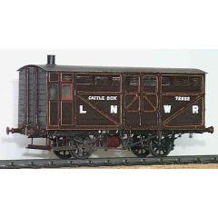 Messing bouwpakket - Veewagon voor show vee van North Western Railway, LMS en BR