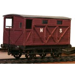 Messing bouwpakket - Remwagon 20 ton van North Stafordshire Railway, LMS en BR
