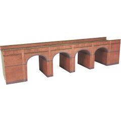 Bouwpakket N: dubbelspoor viaduct - rood baksteen - Metcalfe - PN140