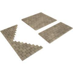 Bouwmateriaal HO/OO: individuele zelfklevende plaveistenen - Metcalfe - PO210
