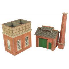 Bouwpakket HO/OO: Water toren en zandhuis - Metcalfe - PO227