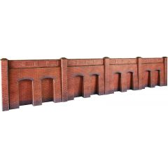 Bouwpakket HO/OO: steunmuur - baksteen - Metcalfe - PO244