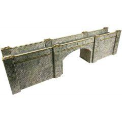 Bouwpakket HO/OO: spoorbrug - natuursteen - Metcalfe - PO247