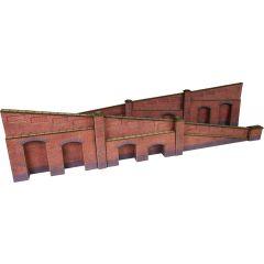 Bouwpakket HO/OO: oplopende steunmuren - baksteen - Metcalfe - PO248