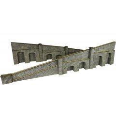 Bouwpakket HO/OO: oplopende steunmuren - natuursteen - Metcalfe - PO249
