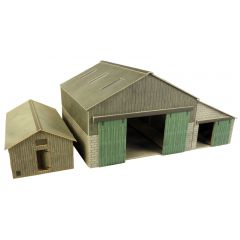 Bouwpakket HO/OO: boerderij bijgebouwen - Metcalfe - PO252