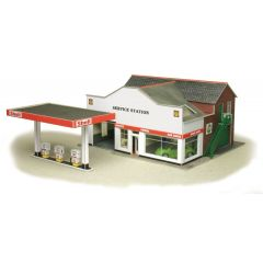 Bouwpakket HO/OO: benzinestation met garage en showroom - Metcalfe - PO281