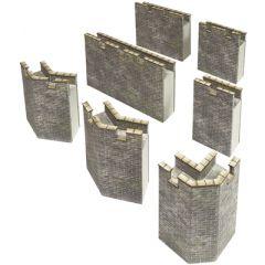 Bouwpakket HO/OO: buitenmuren kasteel - Metcalfe - PO293