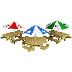 Bouwpakket HO/OO: picknick tafels - Metcalfe - PO510
