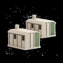 Bouwpakket HO: 2 betonnen hutjes voor langs het spoor