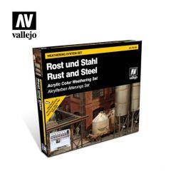 Vallejo roest en staal  - verweringsset - waterbasis acryl verf