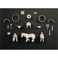 set toebehoren voor een smidse - Modelbouw scenery materiaal: SSAM101 - Wills