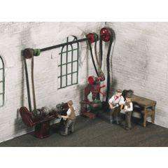 set toebehoren voor een werkplaats - Modelbouw materiaal scenery SSAM102 - Wills