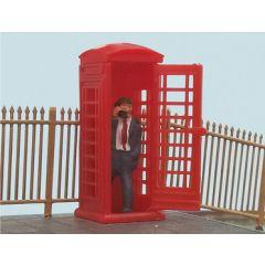 Engelse Telefooncel met beller - Peco - schaal OO