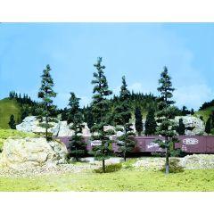 5 grote dennenbomen  - voor modelbouw - Woodland scenics TK23
